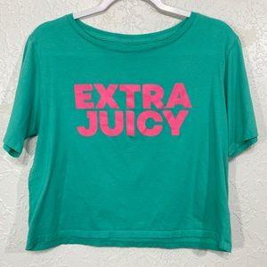 Juicy Couture Sport  Extra Juicy Crop Top Green L